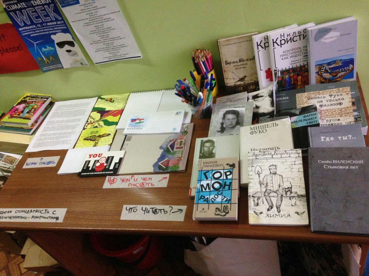 Letter writing event in Murmansk, Russia