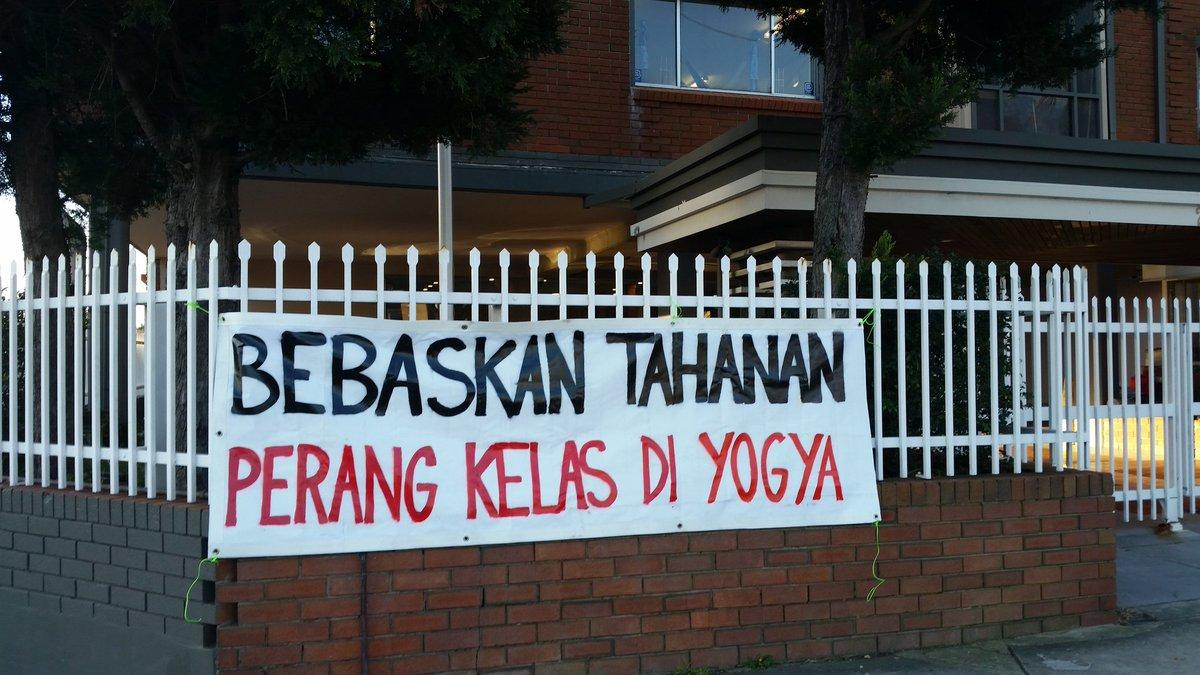 August 30th in Sydney, Australia: Freedom for class war prisoners in Yogyakarta