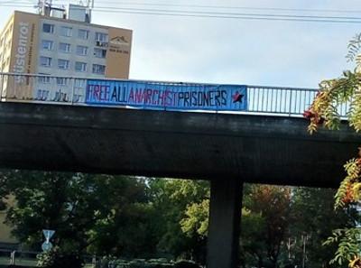 Banner drop in Hradec Králové, Czech republic